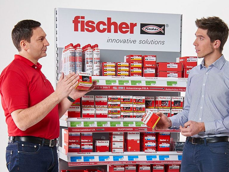 fischer for retailer - customer service, assortment, retail connect, image database, training